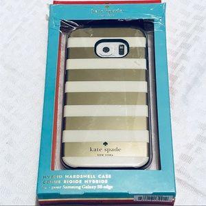 NWT Kate Spade gold glitter striped Samsung case